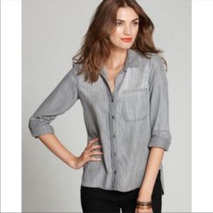 Bella Dahl | chambray Button Down Faded Gray Shirt